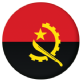 Angola Country Flag 25mm Keyring